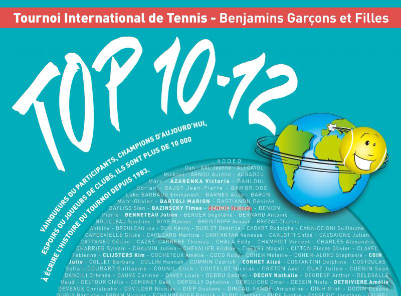 Tournoi de Tennis Top 10 12  du 12 au 22 avril 2018